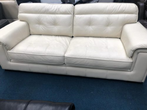 Duchess Cream Real Leather Suite