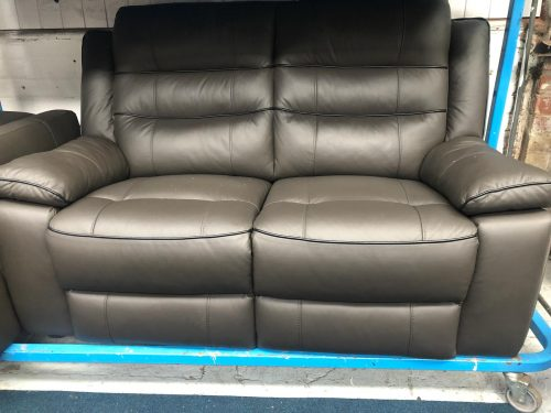 Nesso Dark Brown Real Leather Suite
