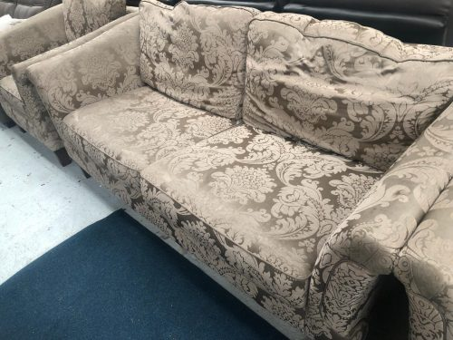 Windsor Gold/Mink Floral Patterned Fabric Suite