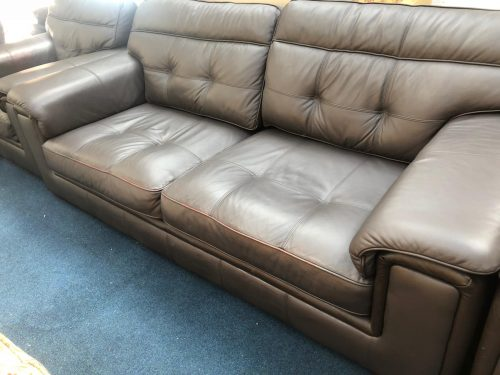 Duchess Brown Real Leather Suite