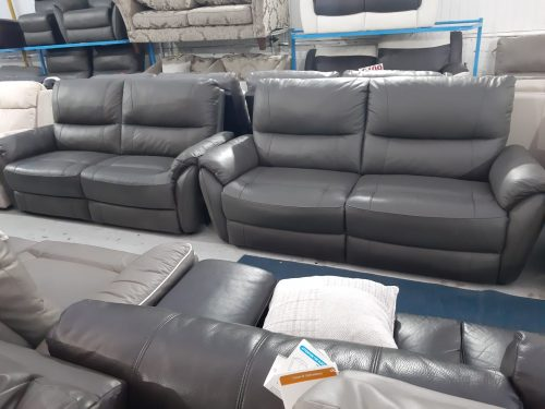 Teo Brown Real Leather Suite