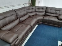 G.Mex Brown Real Leather Corner Sofa