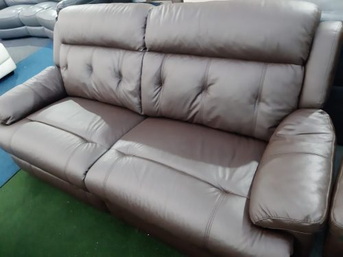 Preston Brown Real Leather Suite
