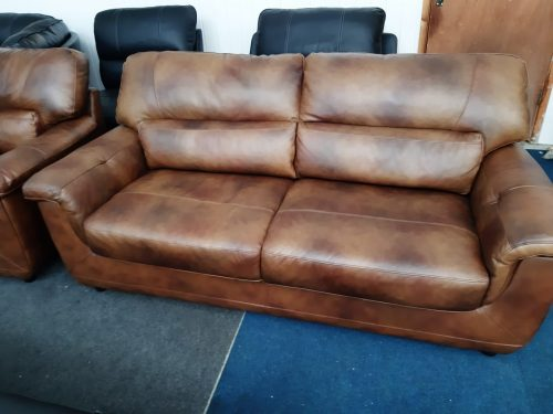 Rowan Brown Real Leather Suite