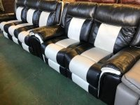 Baxter Black/White Endurance Leather Suite